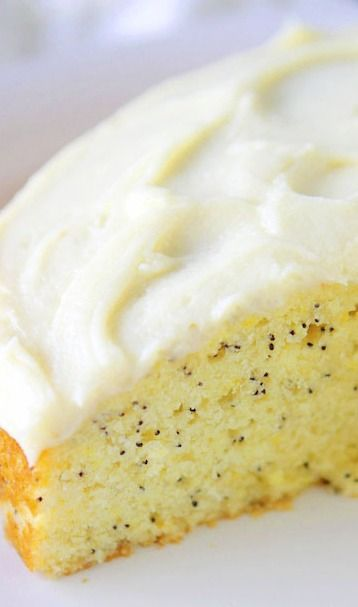 lemon poppyseed cake with cream cheese frosting