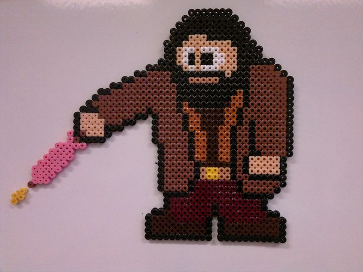 Hagrid - Harry Potter perler beads by Björn Börjesson