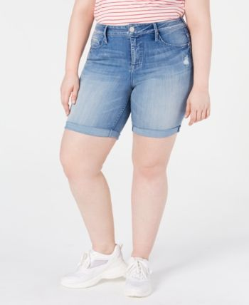 Seven7 Jeans Trendy Plus Size Weekend Denim Bermuda Shorts