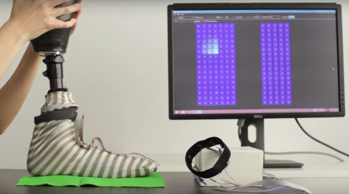 This smart sock adds sensations to prosthetic limbs