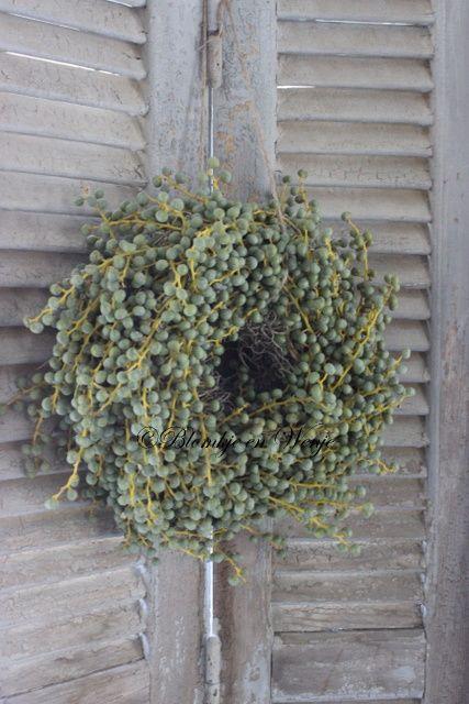 Krans van dadeltakken 25 cm Wreath date twig
