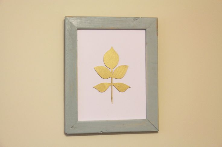 Leaf and Country style picture frame by Woodblends on Etsy