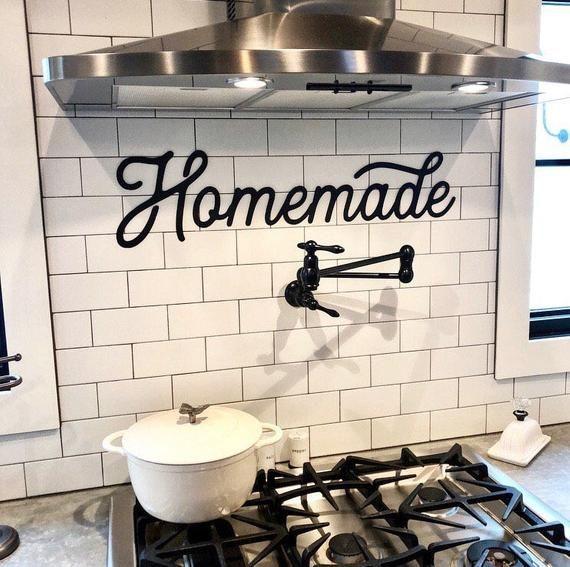 Homemade Metal Sign - Retro Homemade Sign - Metal Wall Art ... on metal backsplashes for kitchens, metal kitchen art work, metal wall art,