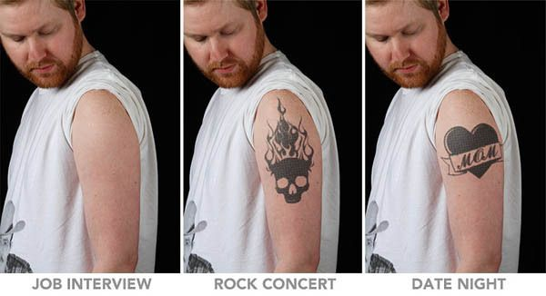 Programmable tattoos that can be changed on will!
