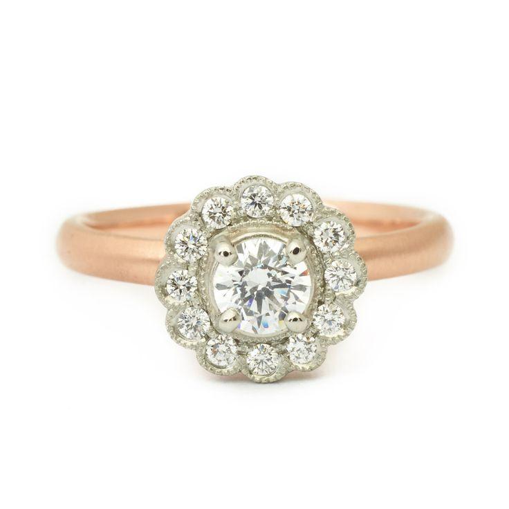 Ava Scalloped Engagement Ring  #engagementring #vintagering #alternativebridal #diamondring #annesportun #preciouseveryday