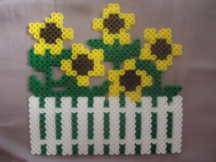 Sunflowers perler beads by *PerlerHime on deviantART