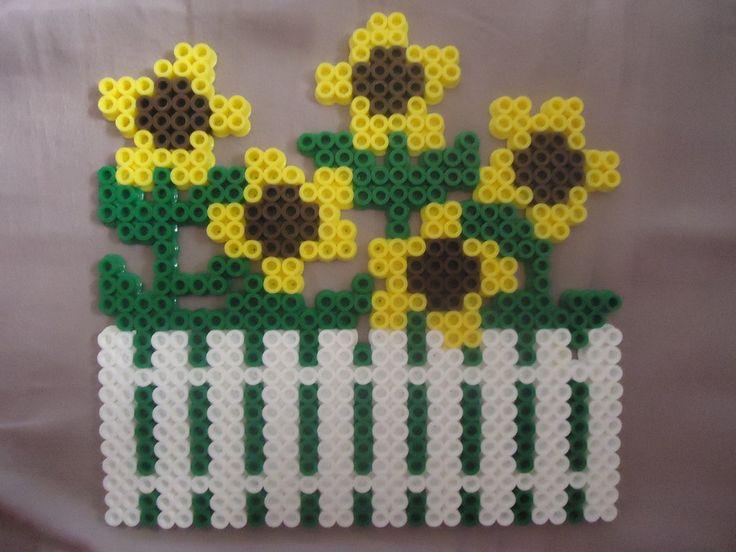 Sunflowers perler beads by *PerlerHime on deviantART