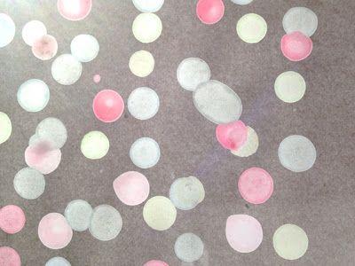 Wachs mit Wasserfarben für Laterne oder Fensterbilder