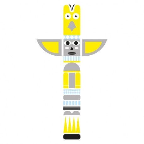 Sticker mural enfant Totem