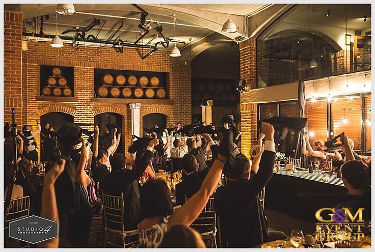 Fun Wedding Reception Entrance // A Magnifique  D R E A M  Wedding at Sirromet Winery // Wedding MC + DJ + Lighting Design #MCGlennMackay #DJBenShipway #GMEventGroup #GMDJs #GMLighting #WeddingLighting #WeddingMC #WeddingDJ