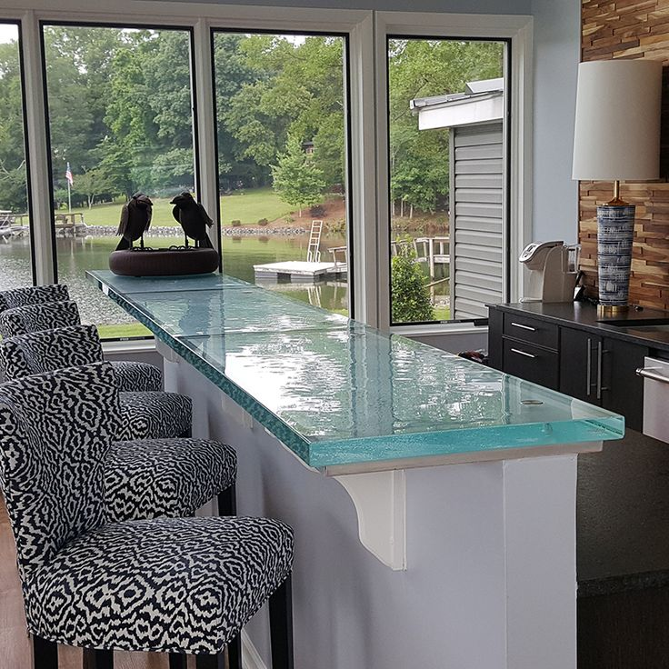 Unusual And Unique, ThinkGlass Countertops Make A Statement And Create  Stunning Focal Points For Modern