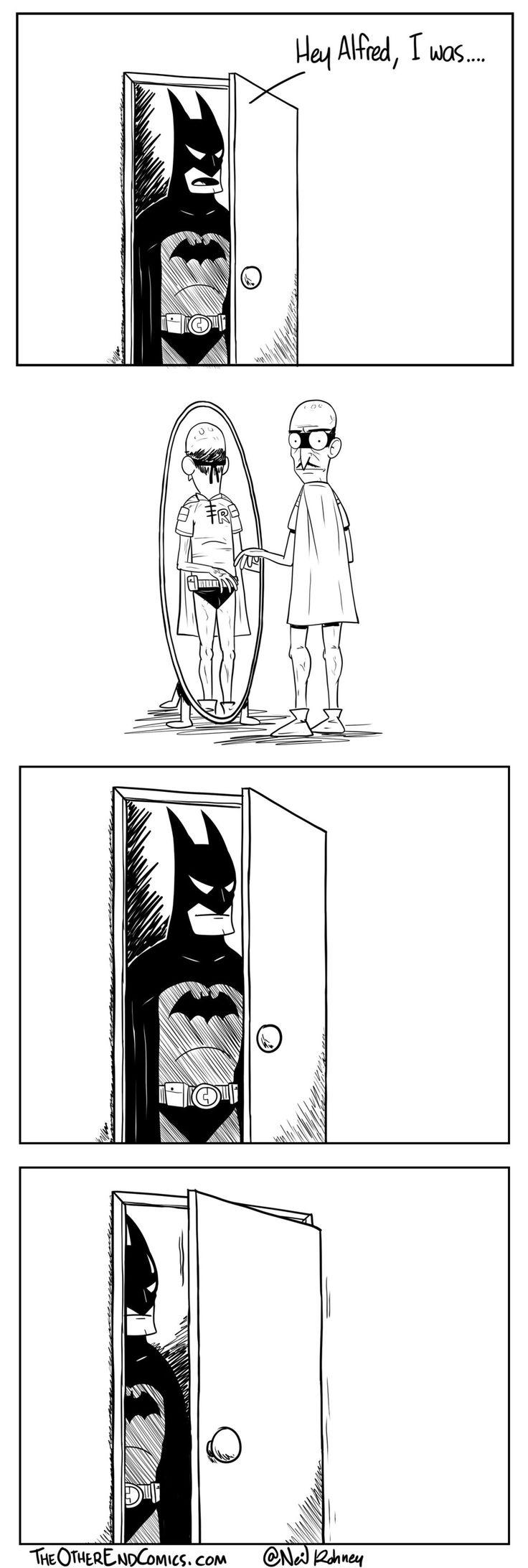 Fashion of the bat an extremely thorough examination of batman s - Batman Comic Strip Alfred S Secret Shame