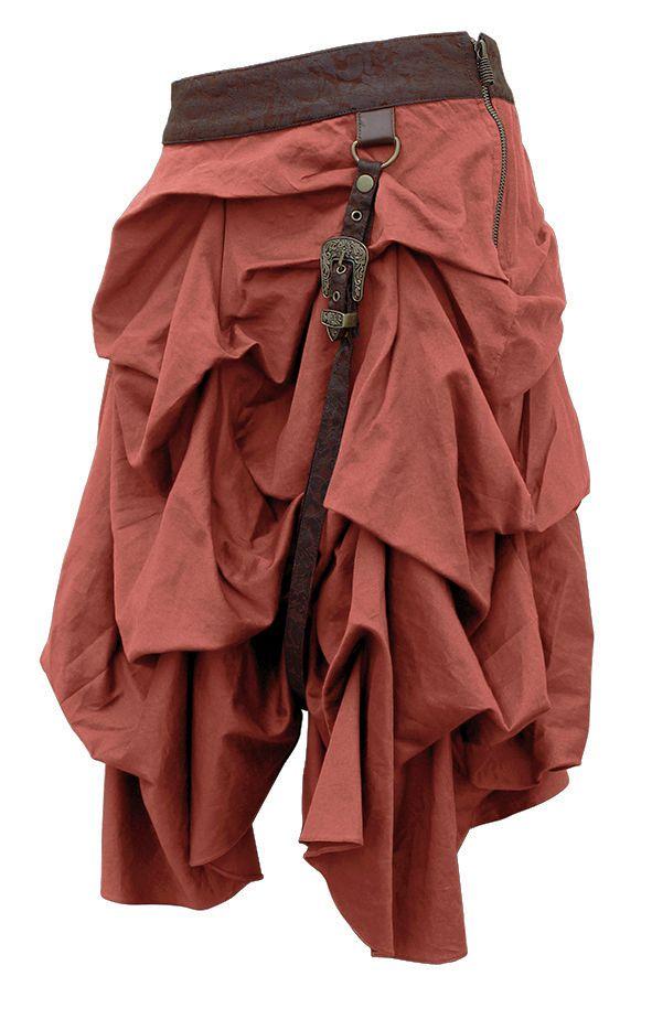 The Violet Vixen - Gathering Gasps Steampunk Tan Skirt, $96.00 (http://thevioletvixen.com/clothing/gathering-gasps-steampunk-tan-skirt/)