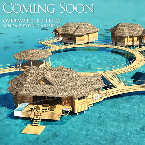 Over Water Suites at #SandalsRoyalCaribbean located in Montego Bay, Jamaica.