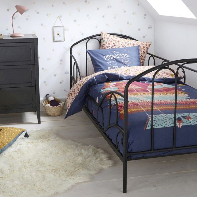 Aela Child S Metal Bed With Base In 2020 Metal Beds Bed