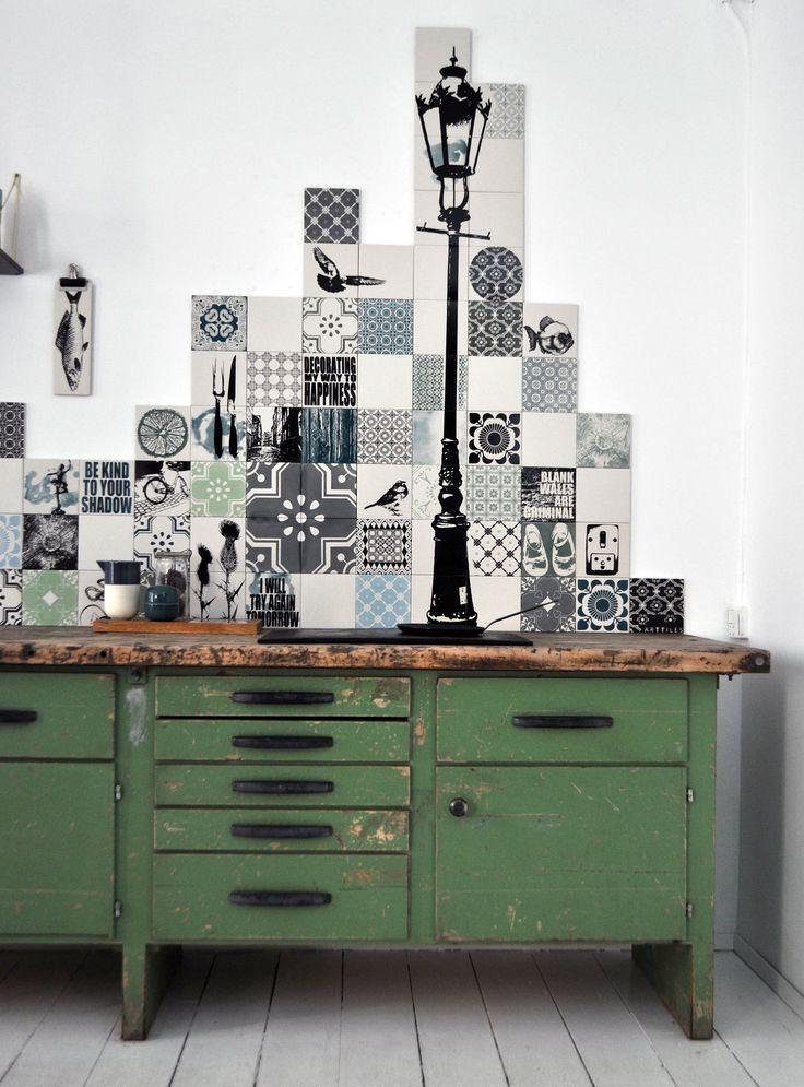 ARTTILES STUDIO KITCHEN Customized kitchen backsplash project, Copenhagen.