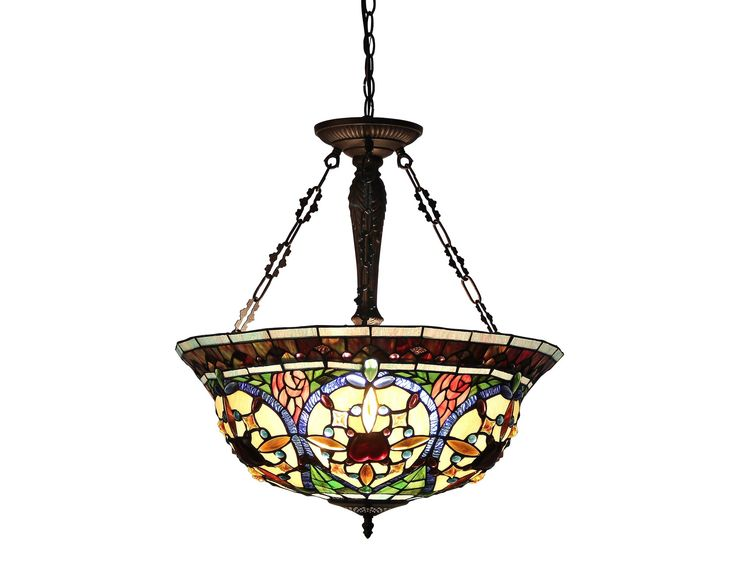Victorian 3 Light Harlan Inverted Ceiling Pendant