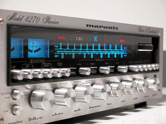 """Marantz 4270.  Of the old school designs, only Marantz could compete with the cool """"Kind of Blue"""" sex appeal of Pioneer."""