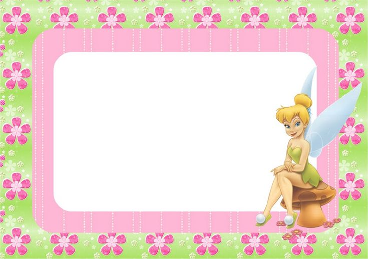 Free Tinkerbell Party Invitations, Cards, Backgrounds And
