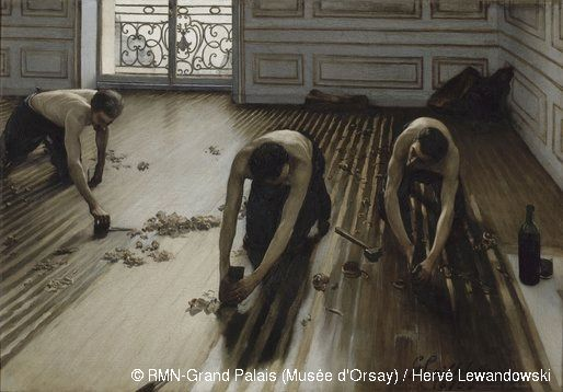 Gustave Caillebotte,Les raboteurs de parquet,© RMN-Grand Palais (Musée d'Orsay) / Hervé Lewandowski