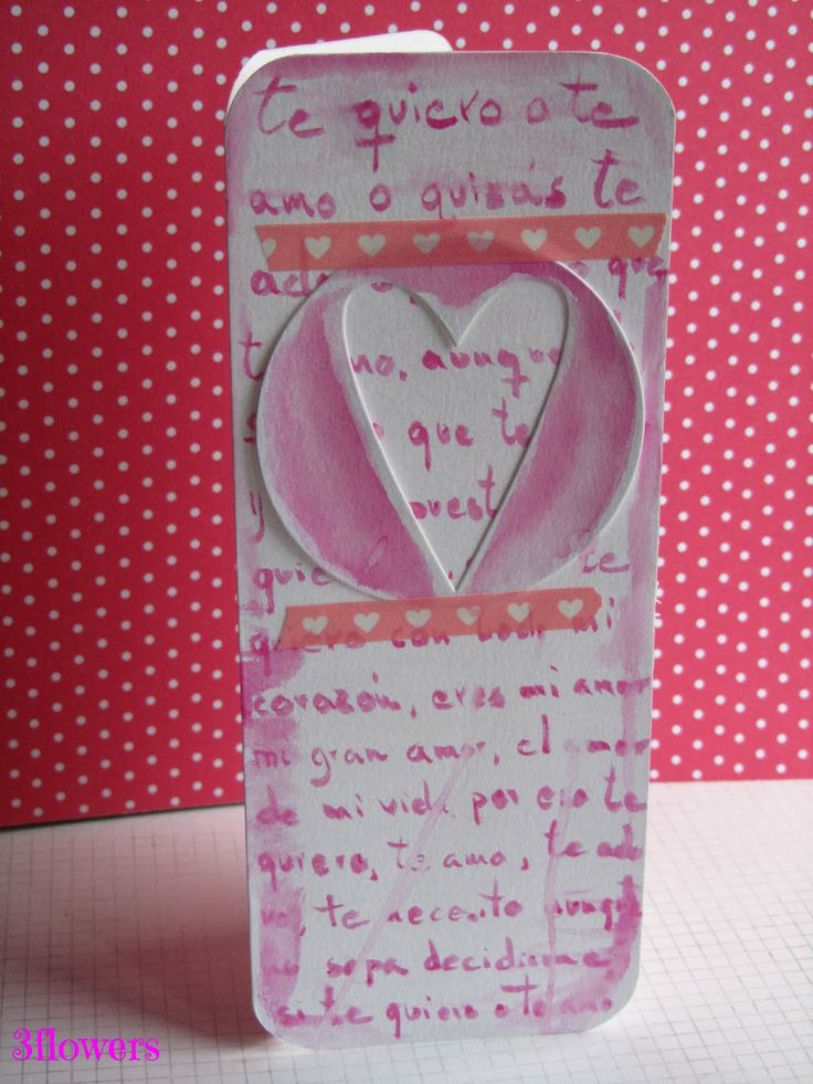 Tarjeta caligrafía  3flowersscrapbooking: Cuando haces algo con el corazón
