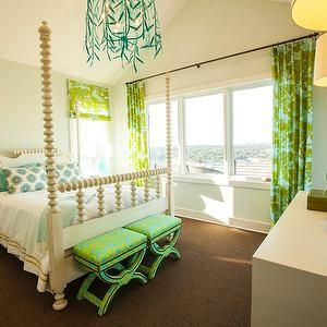 Bedrooms for girls green