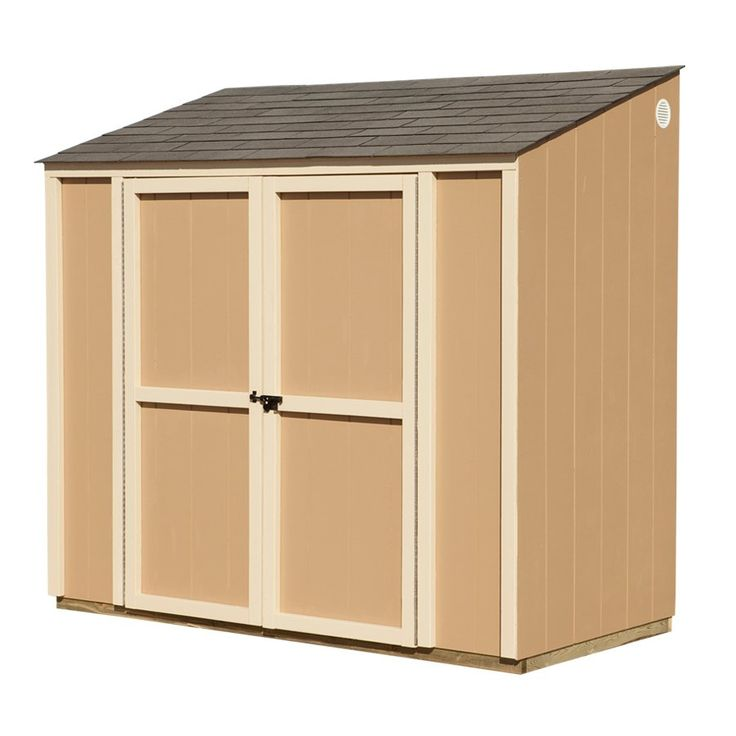 Marwood 8 ft x 4 ft lean to wood storage shed canada a for Lean to storage shed
