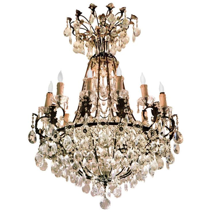 French Crystal Chandelier, I have a love affair with crystal chandeliers.