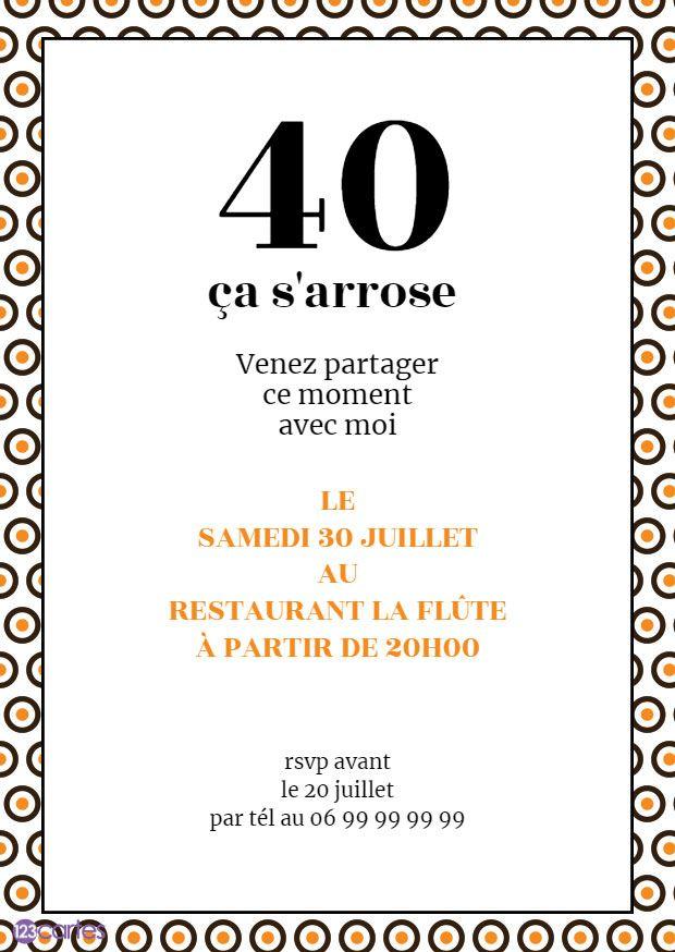 invitations anniversaire adultes