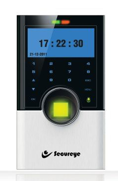 Secureye IP-based Professional Access Control Time & Attendance Biometric Machine, S-B75C is a typical hassle-free mechanism. A mere connection with Ethernet port or through Internet and it gets going.