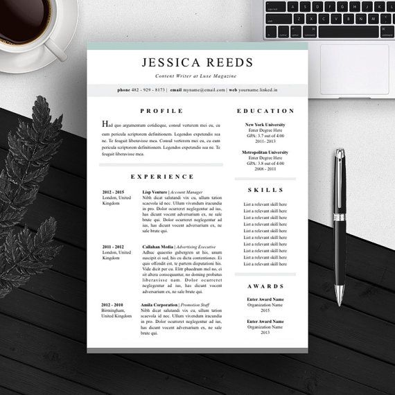 32 best Resume Templates images on Pinterest Resume templates - Word Resume Template Mac