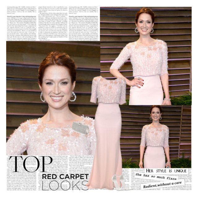 """""""Ellie Kemper~Vanity Fair Oscar Party 2014"""" by tvshowobsessed ❤ liked on Polyvore featuring Vanity Fair and Stuart Weitzman"""