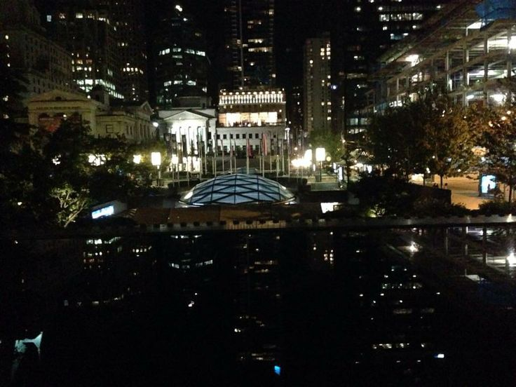 Night view at the court house