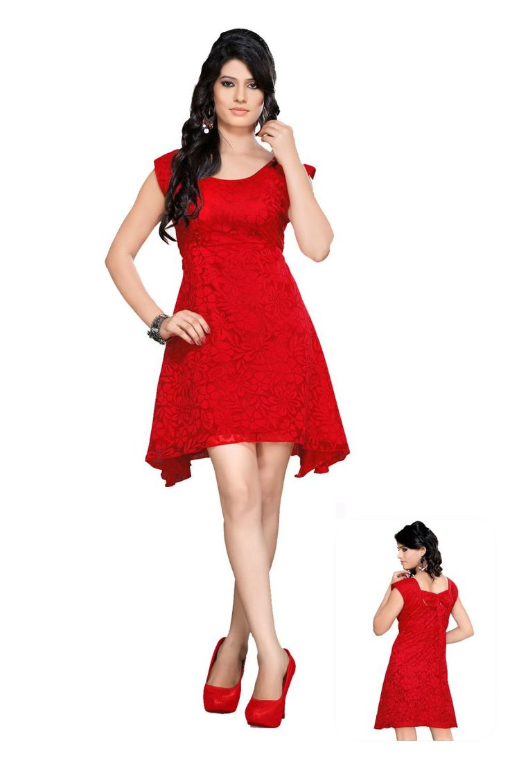 red-design-party-dress
