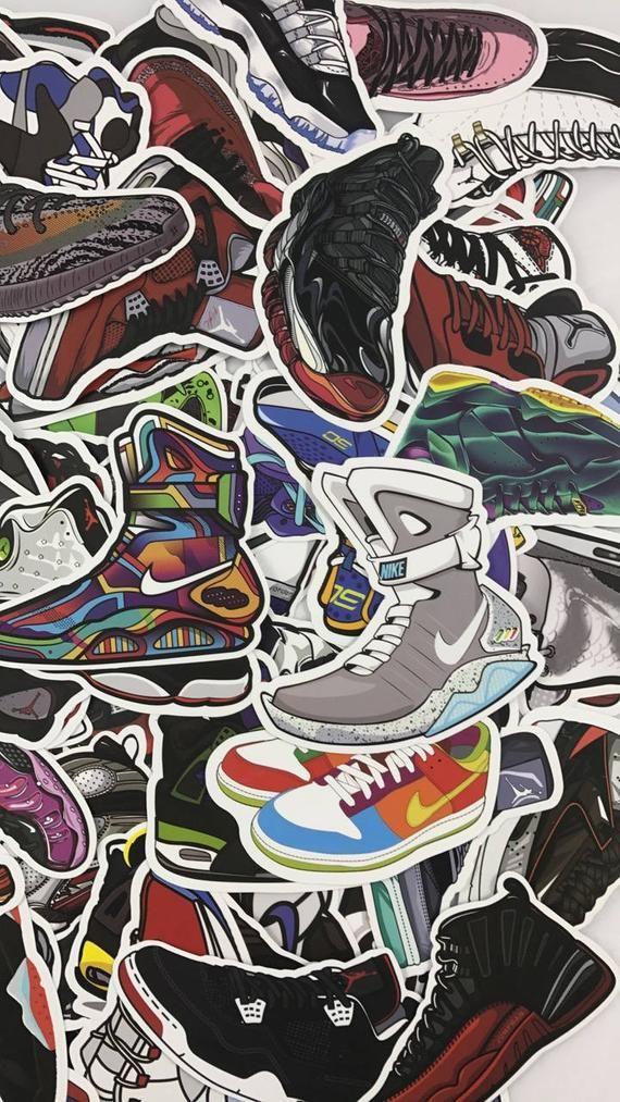 100 Random Jordan Yeezy Sneaker Laptop Phone Car Matte