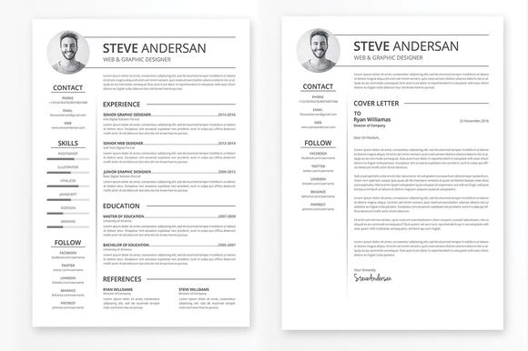 257 best CV Templates images on Pinterest Resume templates - clean resume template