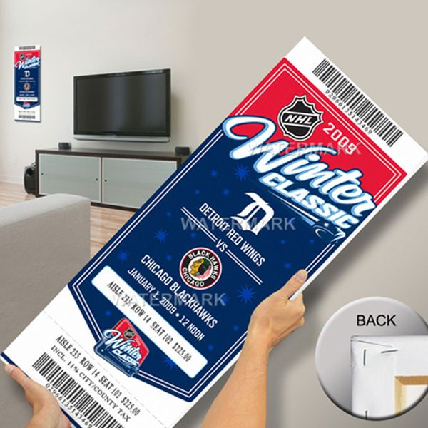 Detroit Red Wings vs. Chicago Blackhawks 2009 Winter Classic Mega Ticket - $99.99