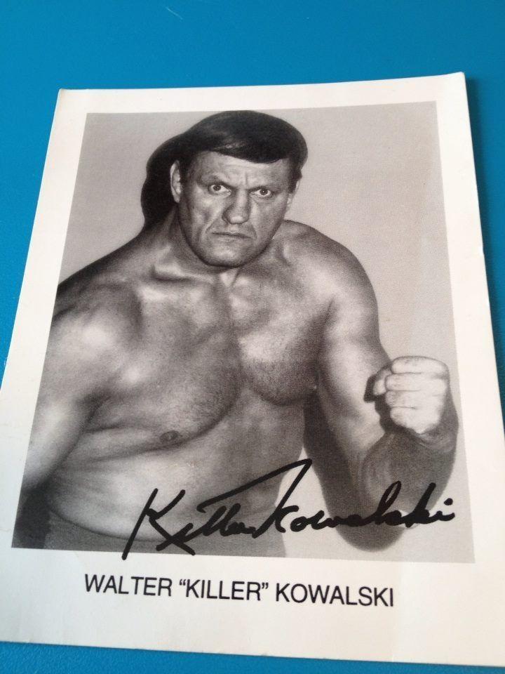 "Black and white photo Walter ""Killer"" Kowalski 4"" X 5 """