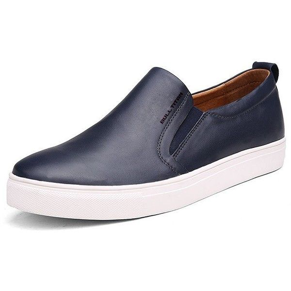 Amazon.com | DEKESEN Men's Platform Leather Slip-on Loafer Sneaker... ($63) ❤ liked on Polyvore featuring men's fashion, men's shoes, mens loafers, mens slip on shoes, mens leather slip on shoes, mens loafer shoes and mens slip on loafers