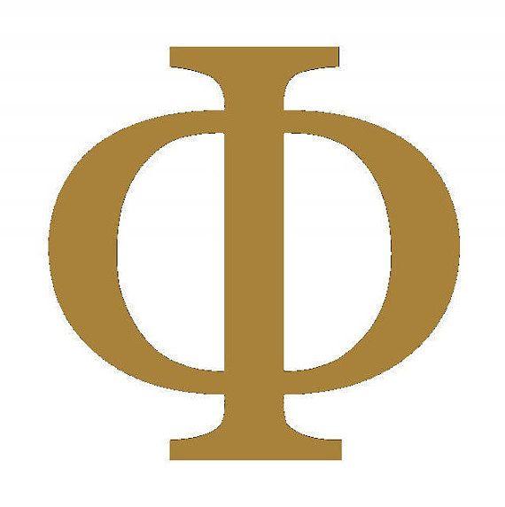 Phi Wooden Greek Letters Sorority / Fraternity Letters 5