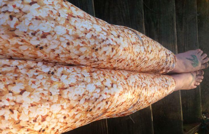movie theater Popcorn lycra Leggings pants custom size by thegeekgarden on Etsy https://www.etsy.com/listing/500826980/movie-theater-popcorn-lycra-leggings