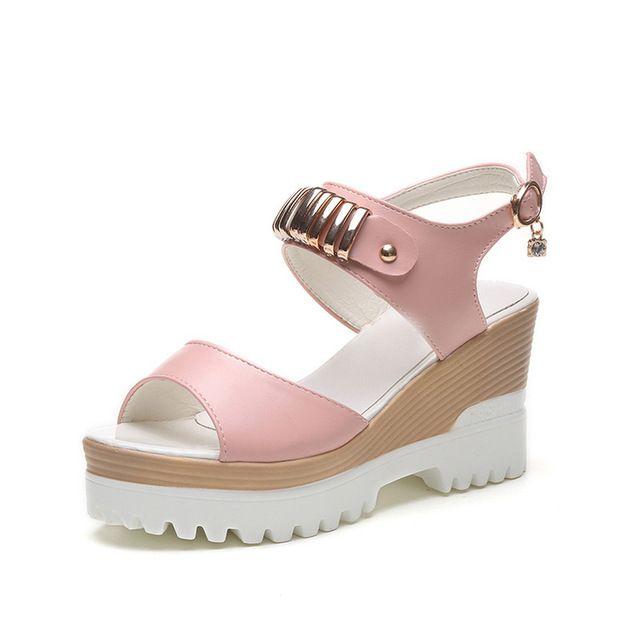 VTOTA 2017 Cuñas de Moda Plataforma Sandalias de Tacón Alto ed de Las Mujeres zapatos Calientes de la Hebilla de Nuevo Verano Zapatos de Punta Abierta Zapatos de Las Mujeres X10 en Sandalias de las mujeres de Zapatos en AliExpress.com | Alibaba Group