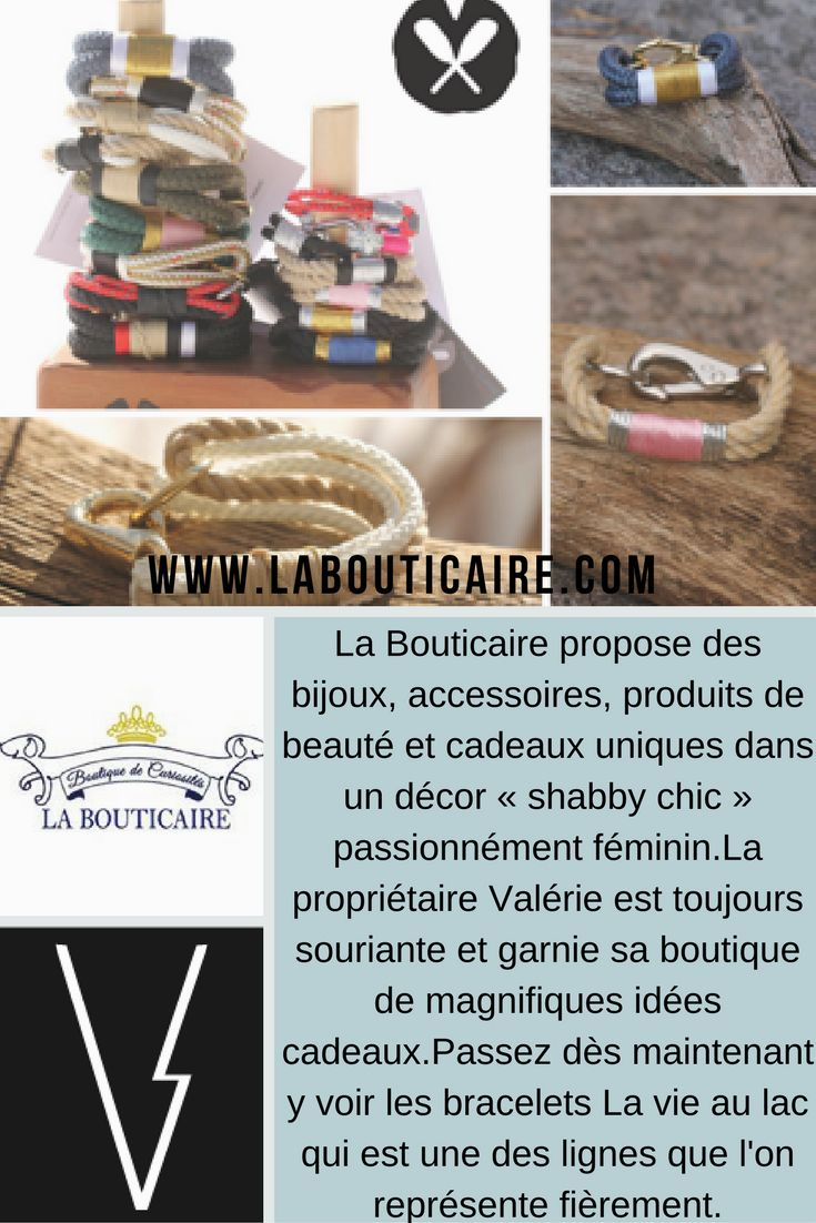 Focus détaillant: Cette semaine on vous invite à visiter @labouticaire !! // Retailer focus: La Bouticaire offers jewelry, accesssories, beauty items and unique gifts in a <<Shabby Chic>> decor.Valerie, the owner is always smiling and the store filled with gifts we'd want to keep for ourselves.They are now offering La vie au lac bracelet that we are representing.