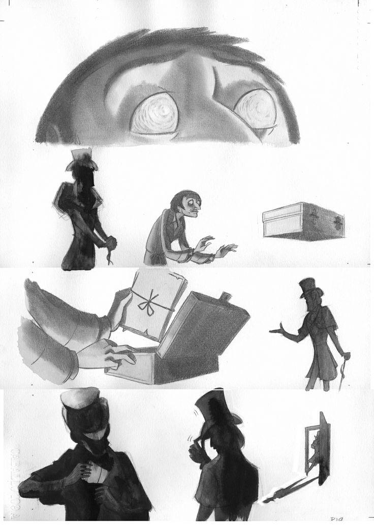 Pagina19 c1: tinta aguada y lápiz de grafito sobre papel caballo Dina3: 300 € David Belmonte ©