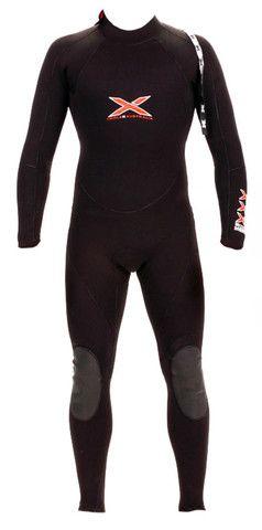 7mm L/S TITANIUM MEGA-STRETCH SEALED SEAM STEAMER WETSUIT | triple-x-wetsuits