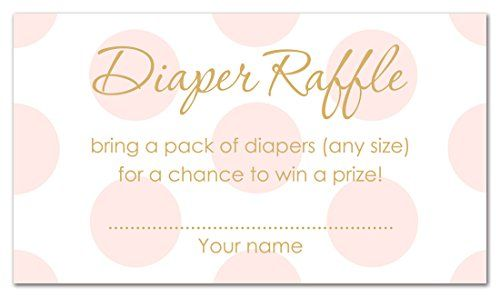A free diaper raffle tickets printable and sign. This is perfect for a baby shower! There is a boy, girl, and gender neutral version.