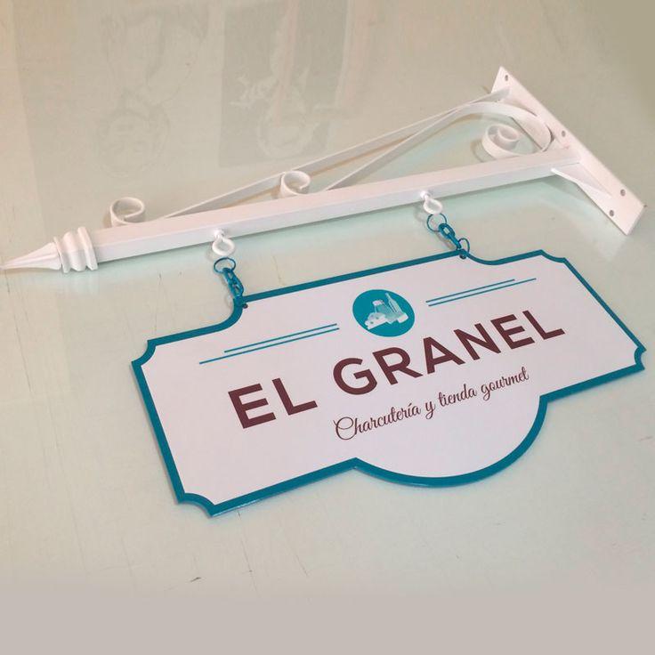 Banderola Vintage Doble Cara para Tienda Gourmet #vintage #banderola #negociosoriginales