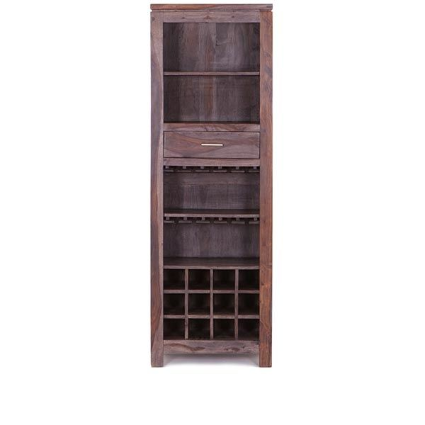 Constructed Of Sheesham Wood, The Temecula Bookcase Winerack Works Triple  Duty. Open Shelf Storage