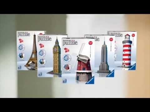 Puzzle 3D Big Ben Wieża Eifflea Statua Wolności na dzielnicadziecka.pl