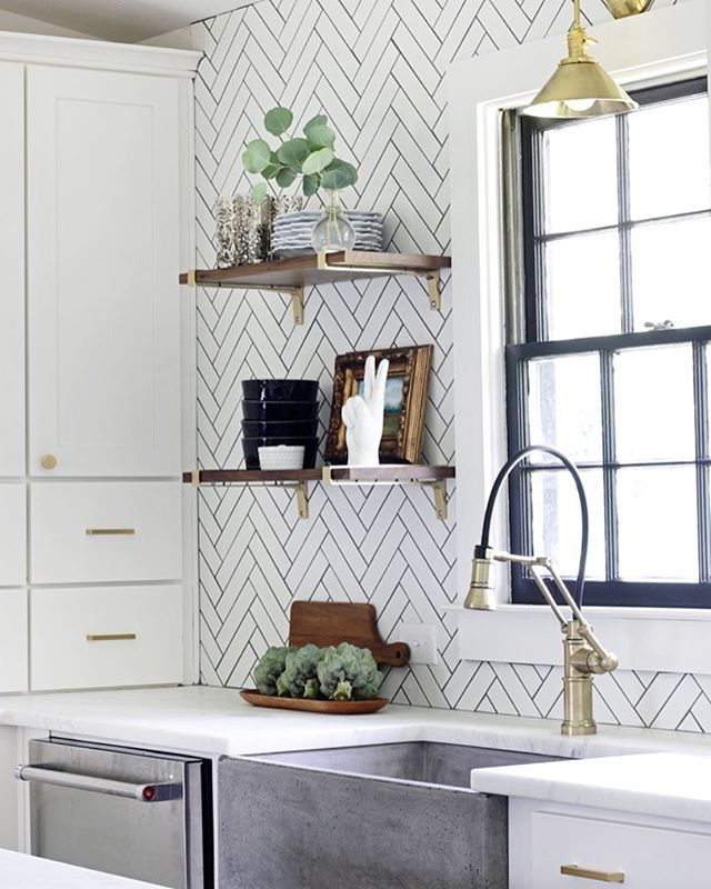 Pretty kitchen details  Also some perfect pairs with the new Fall Pantone colors on Beckiowens.com today. Design @hunted_interior